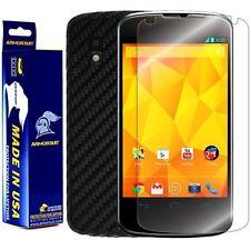 ArmorSuit MilitaryShield LG Nexus 4 Screen Protector + Black Carbon Fiber Skin!