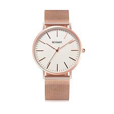 XCOAST Meridium Quarz Uhr Armbanduhr Klassisch analog Rose Weiß