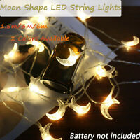 Crescent Moon LED String Fairy Lights Holiday Lighting Xmas Wedding Party Decor.