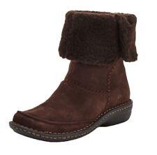 Clarks Womens Avington Grace Suede Ankle Boots 3/35.5 BNWT RRP £75 Dark Brown