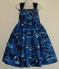 NEW Handmade Killer Whales Sea World Ocean Blue Scenic Dress Custom Sz 12M-10Yrs