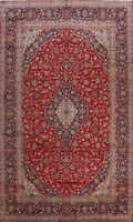 Vintage Floral Ardakan Hand-knotted Area Rug Kork Wool Oriental Carpet 8x13 ft