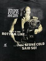 Vintage 1998 Stone Cold Steve Austin 3:16 Texas Venom T-shirt WWF XL