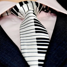 Fancy Dress For Men Black & White Piano Keyboard Necktie Skinny Tie Music Tie
