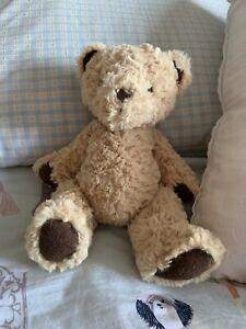 "Jellycat Small Edward Teddy Bear Golden Brown Beanie Plush Soft Toy Height 10"""