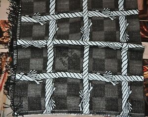 AUTHENTIC NEW MEN'S RUNWAY LOUIS VUITTON DAMIER ROPE GRIS BLANKET LIMITED F/W15