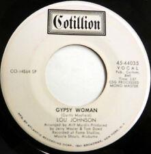 LOU JOHNSON 45 Gypsy Woman /Please Stay COTILLION label promo R&B Soul c1942