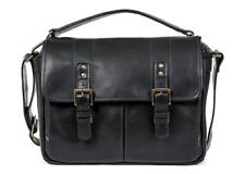 ONA Prince Street Leather Messenger Bag Black