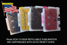 Fits Ricoh 3110DN Sublimation Ink Cartridge 7100DN   with  Ink 4 bottles 100ML