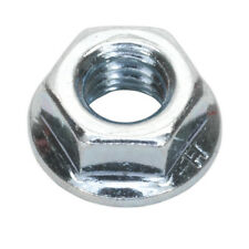 FLANGE NUT SERRATED M8 ZINC DIN 6923 PACK OF 100 FROM SEALEY
