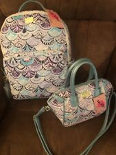 NWT Betsey Johnson Quilted Large Backpack & Mini Satchel Travel Pack Periwinkle
