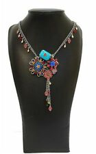 NEW HULTQUIST NECKLACE SILVER CHAIN PEARLS CRYSTALS ENAMEL HEARTS VINTAGE LAST 1