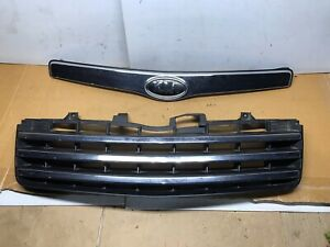 2009 2010 2011 KIA BORREGO Grill Grille With Emblem And Hood Molding 09-11 Nice