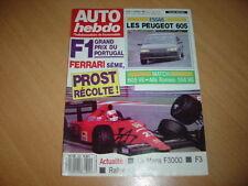 Auto hebdo N°695 R21 Turbo Quadra.605 SV 24.605 SV 3.0