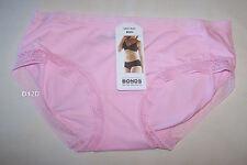 Bonds Ladies Icey Pink Lace Legs Midi Brief Size 16 New
