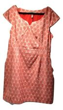 Pepperberry Coral Gingham ladies pencil dress Size 18 NWT