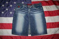BONGO Blue Whiskered Denim Mini Skirt Size 9: dressy/work/casual/fashion #4382