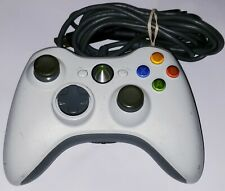 Xbox 360 White Wired Corded USB Controller OEM Microsoft PC & Console Authentic