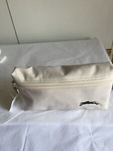 New Longchamp Le Pliage Chalk Cosmetic Bag - Small 100% Authentic