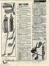 1957 ADVERT Robbie Robinson Bob Hagey Jerry Barber Golf Clubs