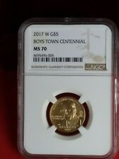 2017 Boys Town Centennial W $5 MS Gold Coin **very low mintage**