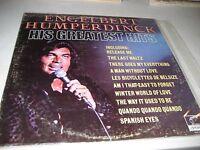 ENGELBERT HUMPERDINCK HIS GREATEST HITS LP NM Parrot PAS71067 1974