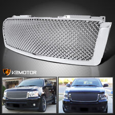 2007-2014 Chevy Avalanche Tahoe Suburban Chrome ABS Front Upper Mesh Hood Grille