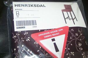 New IKEA HENRIKSDAL Cover for Bar Stool ~ Ryrane Floral 704.711.53
