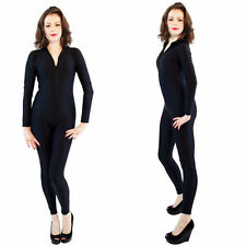 Black Lycra Spandex Catsuit Halloween Party Zentai Costumes S-XXL