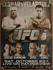 UFC 121:  Lesnar vs Velasquez, PPV Promo Poster, Shields, Kampmann, Ortiz, Hamil