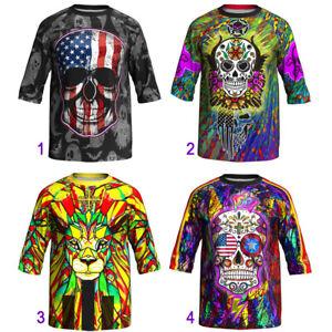3/4 Sleeve Cycling Jersey Vest Jacket MTB Bike Coat Motocross Shirt Ride Clothes
