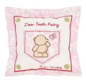 Forever Friends Beautiful Square Tooth Fairy Cushion - Pink