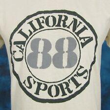 vintage 1988 CALIFORNIA SPORTS PAPER THIN T-Shirt SMALL beach surf skate sun 80s