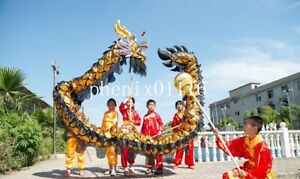 5.5m 6 Kid New gold-plated CHINESE Culture DRAGON DANCE Folk Festival Costume