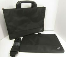 "FOR THINKPAD FANS ONLY - Lenovo ThinkPad Black 14"" Laptop Sleeve & Briefcase Set"