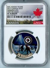 2017 CANADA NGC FIRST RELEASES PF70 MATTE WINNIPEG JETS S$10! AWESOME COIN