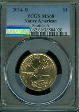 2014-D NATIVE AMERICAN SACAGAWEA PCGS MS68 POS-A MAC 2ND FINEST SPOTLESS  *