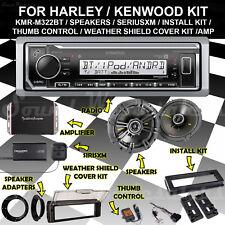 FOR 98-13 HARLEY INSTALL FLHX KIT USB RADIO SPEAKERS ADAPTERS COVER AMP XMTUNER