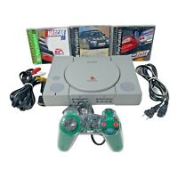 Sony PlayStation 1 PS1 Console Racing Bundle SCPH-5501 Controller Cords Games