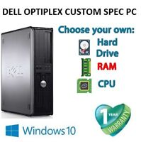 Dell  OptiPlex Custom Spec PC  Desktop Computer HDD RAM Processor Windows 10