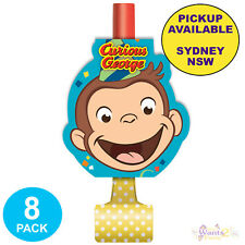 Curious George Birthday Party Supplies 8 Blowouts Blowers Loot Favours