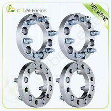 """4Pcs 1"""" 25mm Thick Wheel Spacers 6x5.5 14x1.5 Studs 6 Lug For Chevrolet GMC"""