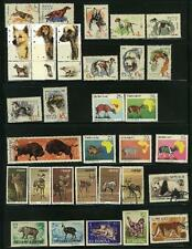 "COLLECTION OF STAMPS ""ANIMALS"" DIFFERENT CONDITION"
