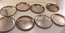 8 x Kleine Silberteller 925er Silber 9 cm (Durchmesser)