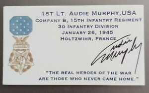 AUDIE MURPHY BUSINESS CARD. MEDAL OF HONOR INCREDIBLY RARE FIND Item#015