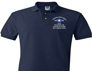 153RD AIRLIFT WING WYOMING AIR GUARD EMBROIDERED POLO SHIRT/SWEAT/JACKET.