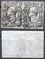 Briefmarken Altdeutschland Sachsen, Mi.Nr. 8,Paar, gestempelt