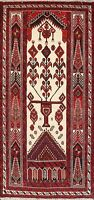 Tribal Balouch Geometric Hand-knotted Area Rug Home Decor Oriental 3'x6' Carpet