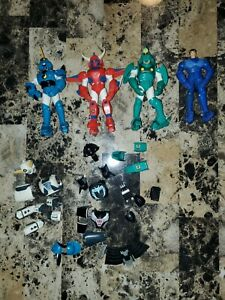 4 Playmates Ronin Warriors Action Figures (1995) - tons of extra parts as-is