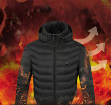 Hoodie Heated Vest Warm Body Electric USB Mens Womens Heating Coat Jacket Winter